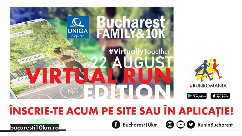 bucharest family and 10k 2020 virtual run